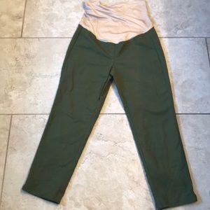 Loft Maternity Green Ankle Pants 8